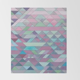 Triangle Pattern no.3 Violet Throw Blanket