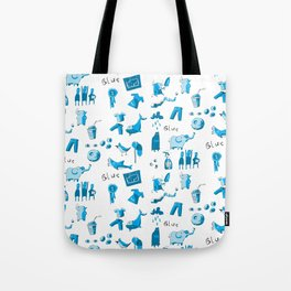 Blue Things Tote Bag