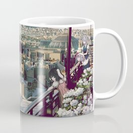 Breathtaking Stunning View Of Enormous City Skyline Cartoon Scenery Ultra High Resolution Coffee Mug