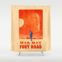 mad max Shower Curtains featuring Mad Max: Fury Road by days & hours