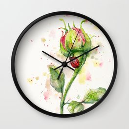 Ladybug Lane Wall Clock