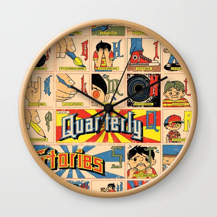 Odd Alphabet Chart Wall Clock by joshuakemble | Society6