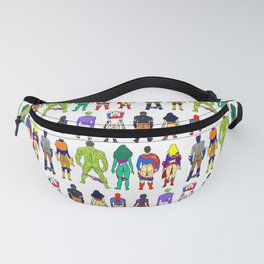 Superhero Butts - Power Couple on Grey Fanny Pack