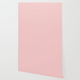 Large Blush Pink Lovehearts on Light Pink Wallpaper