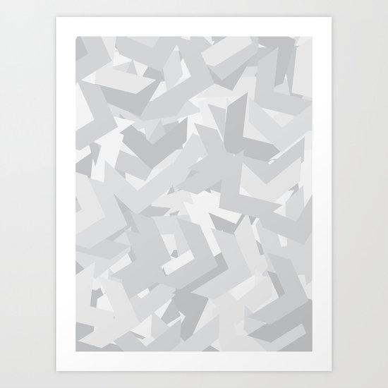 White Chevron Art Print