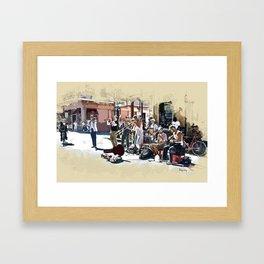 Buskers on Royal Framed Art Print
