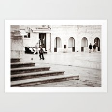 Soccer in the Square Art Print