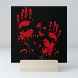 Halloween Scary Blood Hands Horror Costume Mini Art Print