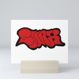 SNAX graffiti Mini Art Print
