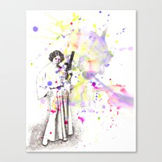 Princess Leia From Star Wars Canvas Print