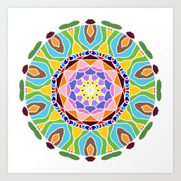 Geometric circle element Art Print