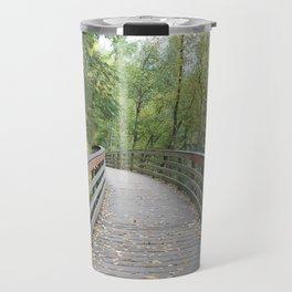 Walking Bridge in the Woods Travel Mug