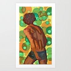 Vollyball player imagined Art Print