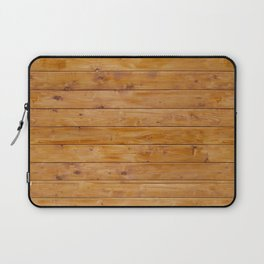 Barn Wall Made of Old Wooden Planks - Brown Laptop Sleeve