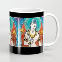 buddhism Mugs featuring Buddhism by Panda Cool