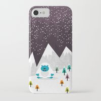 yeti iPhone & iPod Cases featuring Yeti by Kakel