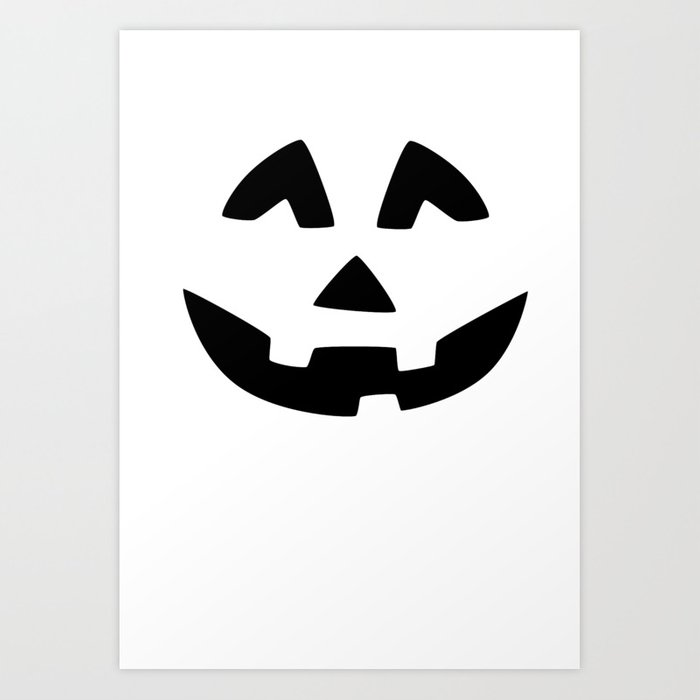 Cute Jack O Lantern Face Art Print