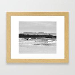 Tofino Grey Surf Framed Art Print