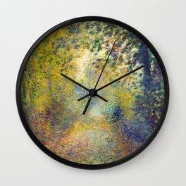 """Auguste Renoir  """"In the Woods"""" Wall Clock"""
