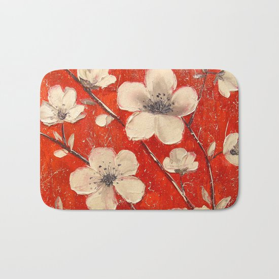 Flowering Apple tree Bath Mat