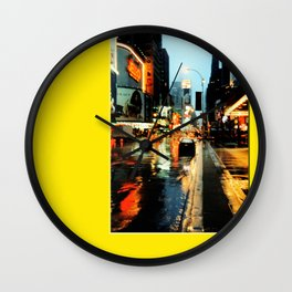 Americana - A rainy Day in Manhatten - NYC Wall Clock