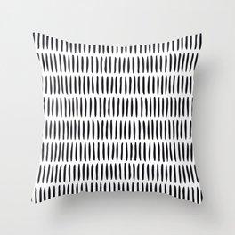 Classy Handpainted Stripes Pattern, Scandinavian Design Throw Pillow