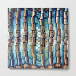 Abstract Architectural Pillars Metal Print