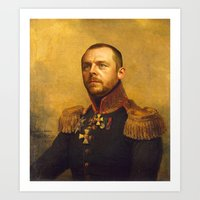 replaceface Art Prints featuring Simon Pegg - replaceface by replaceface