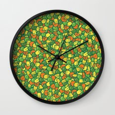 Peas, Carrot & Corn Wall Clock