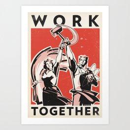 Work Together Art Print