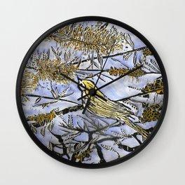 Morning Song Woodcut Wall Clock