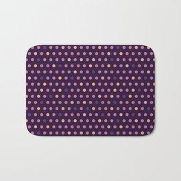 Purple polka dot Bath Mat