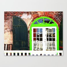 Green Window in Apalach Canvas Print