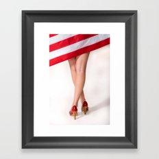 American Legs Framed Art Print