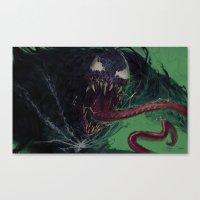 venom Canvas Prints featuring Venom by MATT DEMINO