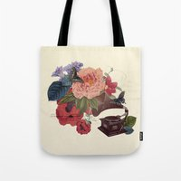 flora Tote Bags featuring FLORA by Pepper / Shop