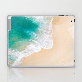 Sand Beach - Waves - Drone View Photography Laptop & iPad Skin