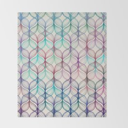 Mermaid's Braids - a colored pencil pattern Throw Blanket