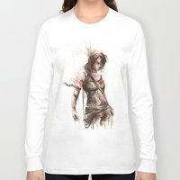 lara croft Long Sleeve T-shirts featuring Lara by Alonzo Canto