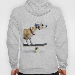 Skate Punk - Skateboarding Chihuahua Dog inTiny Helmet Hoody