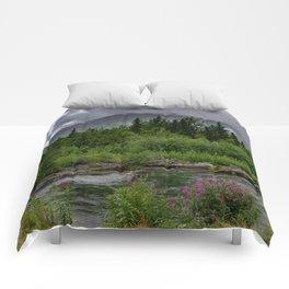 Alaskan Summer Rain Clouds, Kenai_Peninsula Comforters