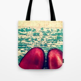 Red Boots and Possibilities Tote Bag