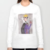 evil queen Long Sleeve T-shirts featuring The Evil Queen by carotoki art and love