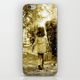 Angel of Hope & Lily Gold iPhone Skin