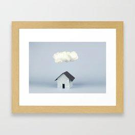 A cloud over the house Framed Art Print