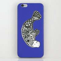 manatee iPhone & iPod Skins featuring Manatee by Casey Virata