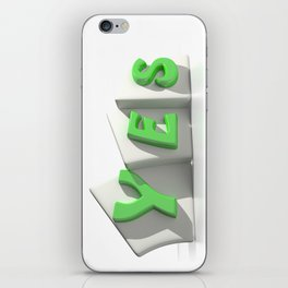 Yes green tags iPhone Skin