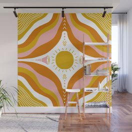 sunshine mandala Wall Mural