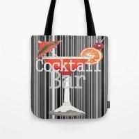 bar Tote Bags featuring Cocktail Bar by Sartoris ART