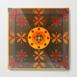 Oskar II: Brown Metal Print